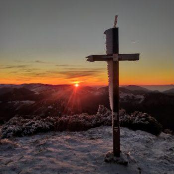 Západ slnka na Rakytove